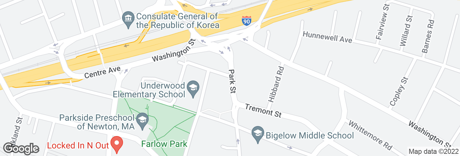 Map of Park St @ Elmwood St and surrounding area