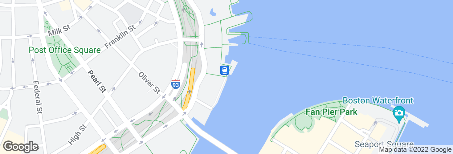 Map of Rowes Wharf and surrounding area