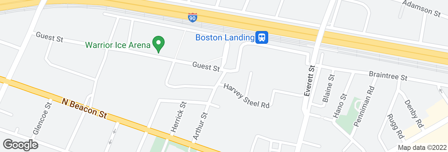 Map of Arthur St @ Guest St - Stop & Shop and surrounding area