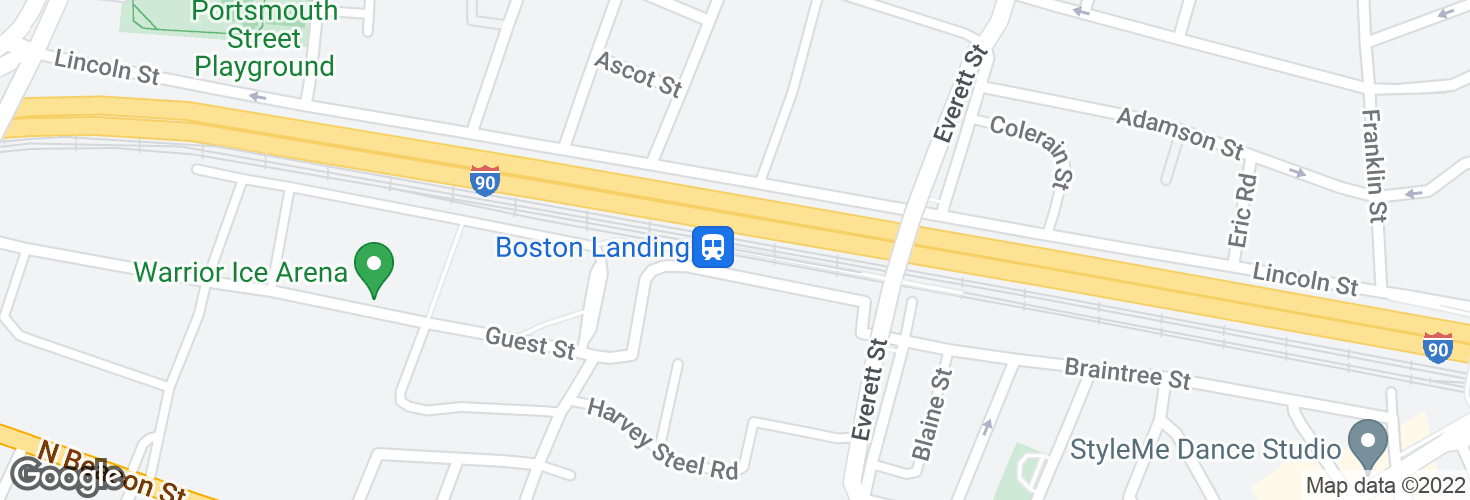 Map of Boston Landing and surrounding area
