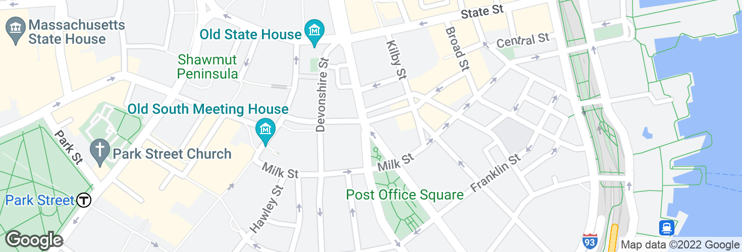 Map of Pearl St @ Congress St and surrounding area