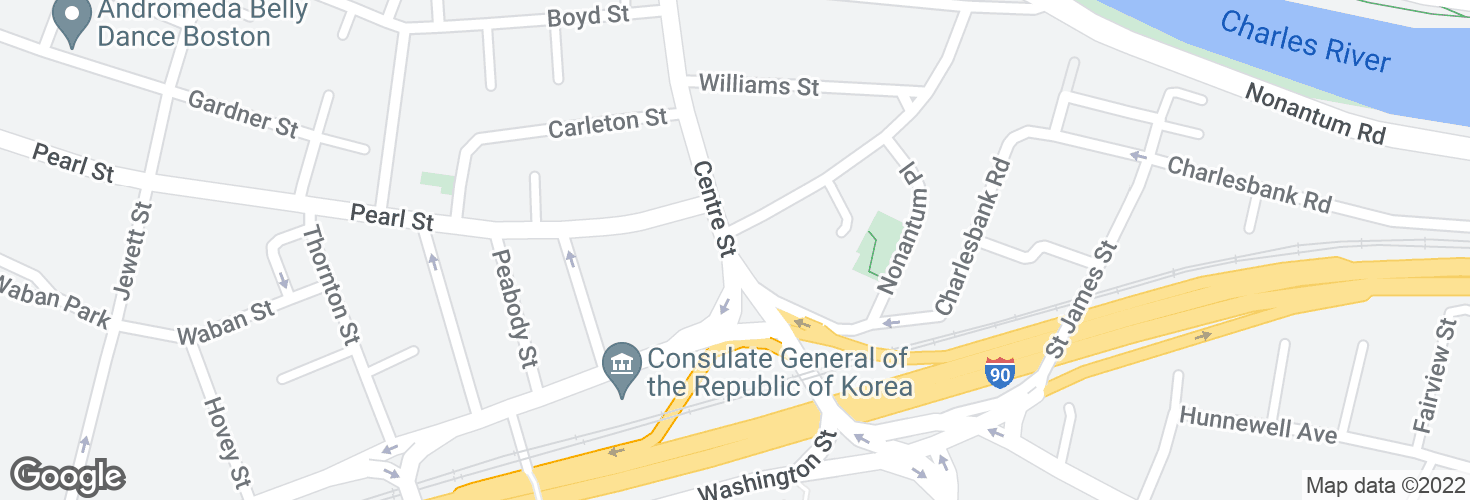 Map of Centre St @ Jefferson St and surrounding area