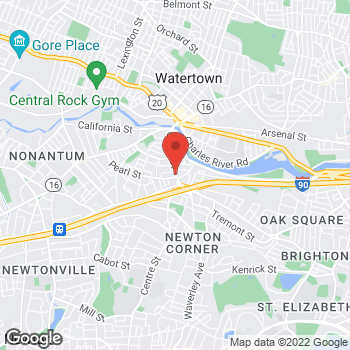 Map of Bertucci's Italian Restaurant at 275 Centre Street, Newton, MA 02458