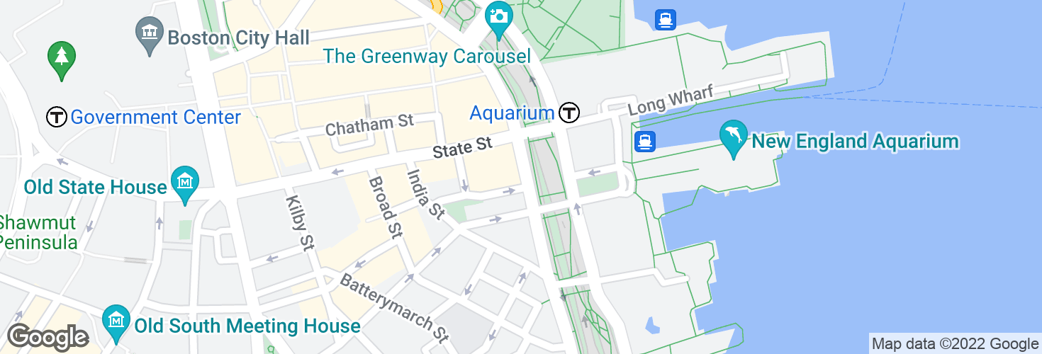 Map of Atlantic Ave @ Central St and surrounding area