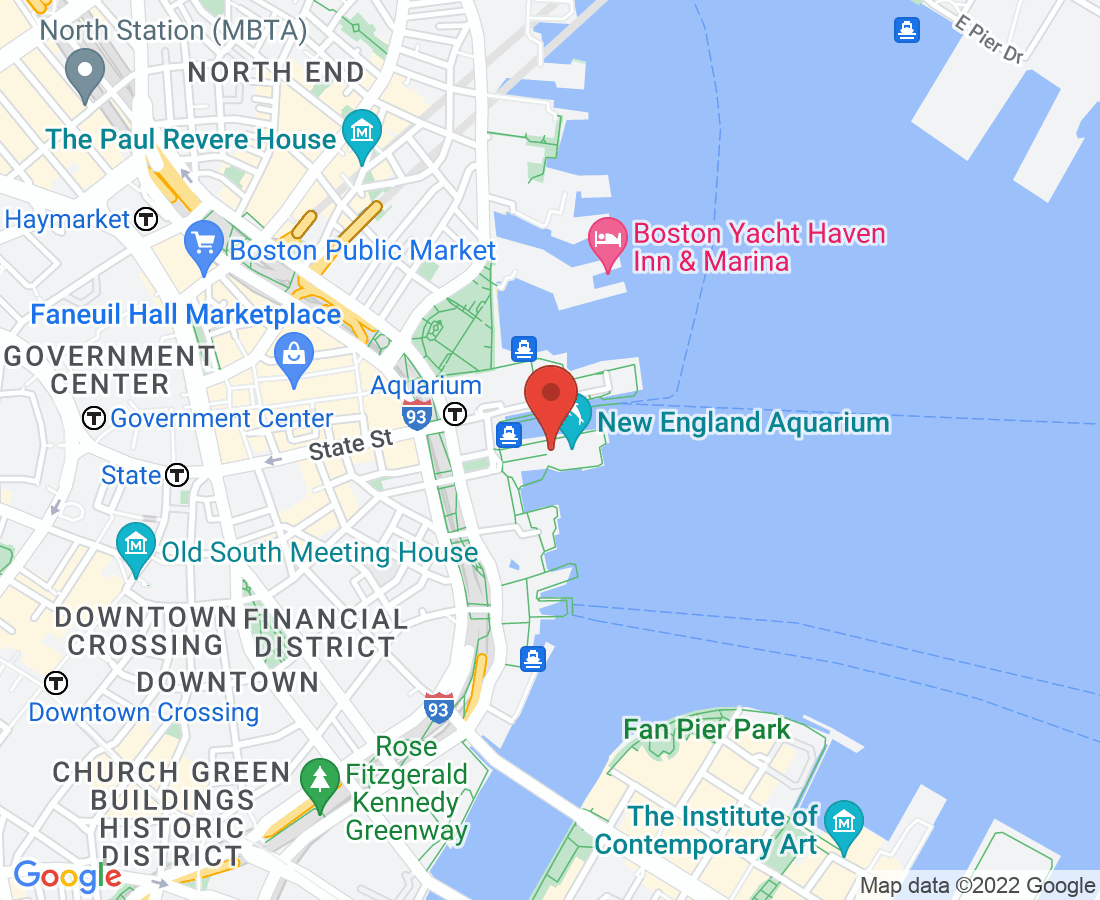New England Aquarium Map