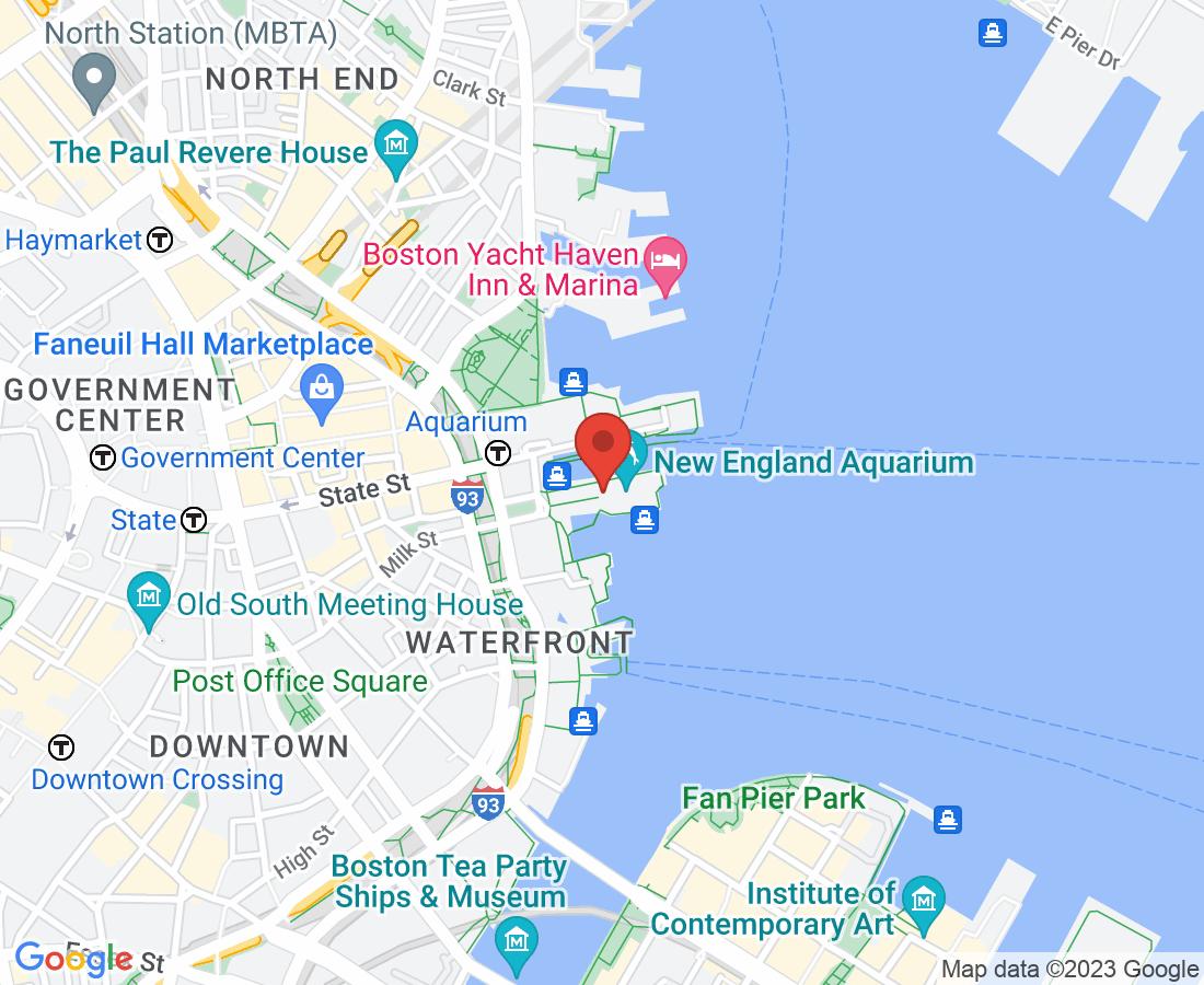 New England Aquarium Map