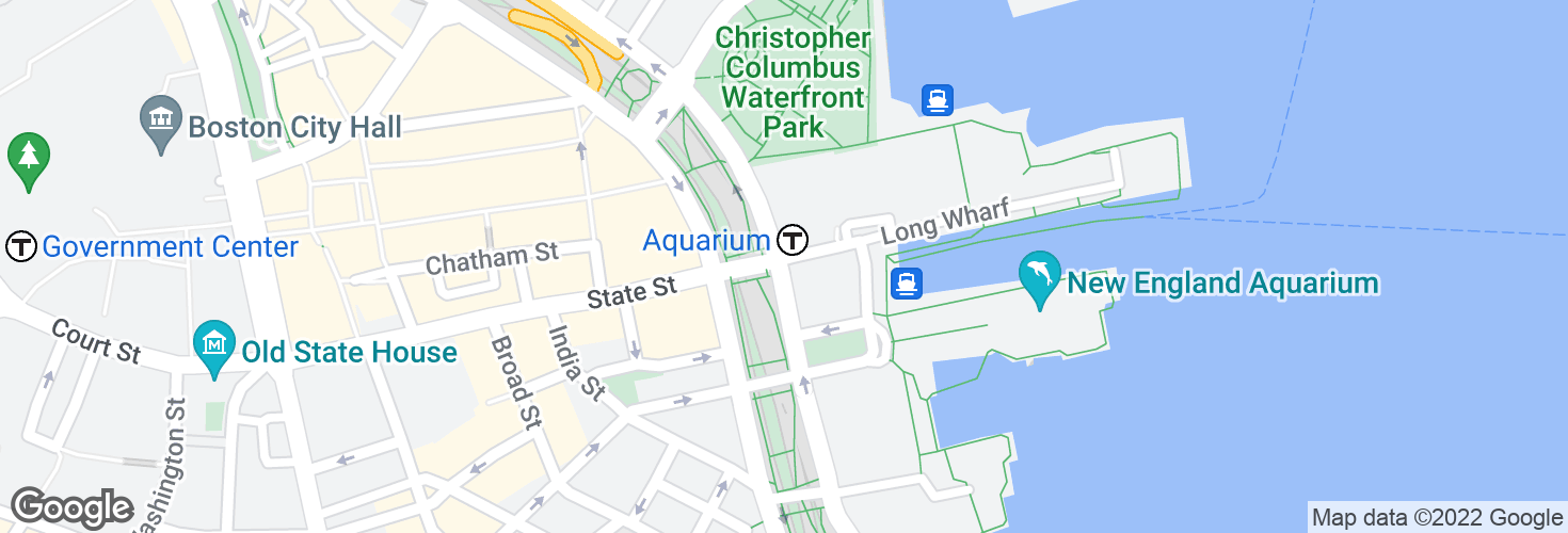 Map of Atlantic Ave @ State St-Marriott Hotel and surrounding area