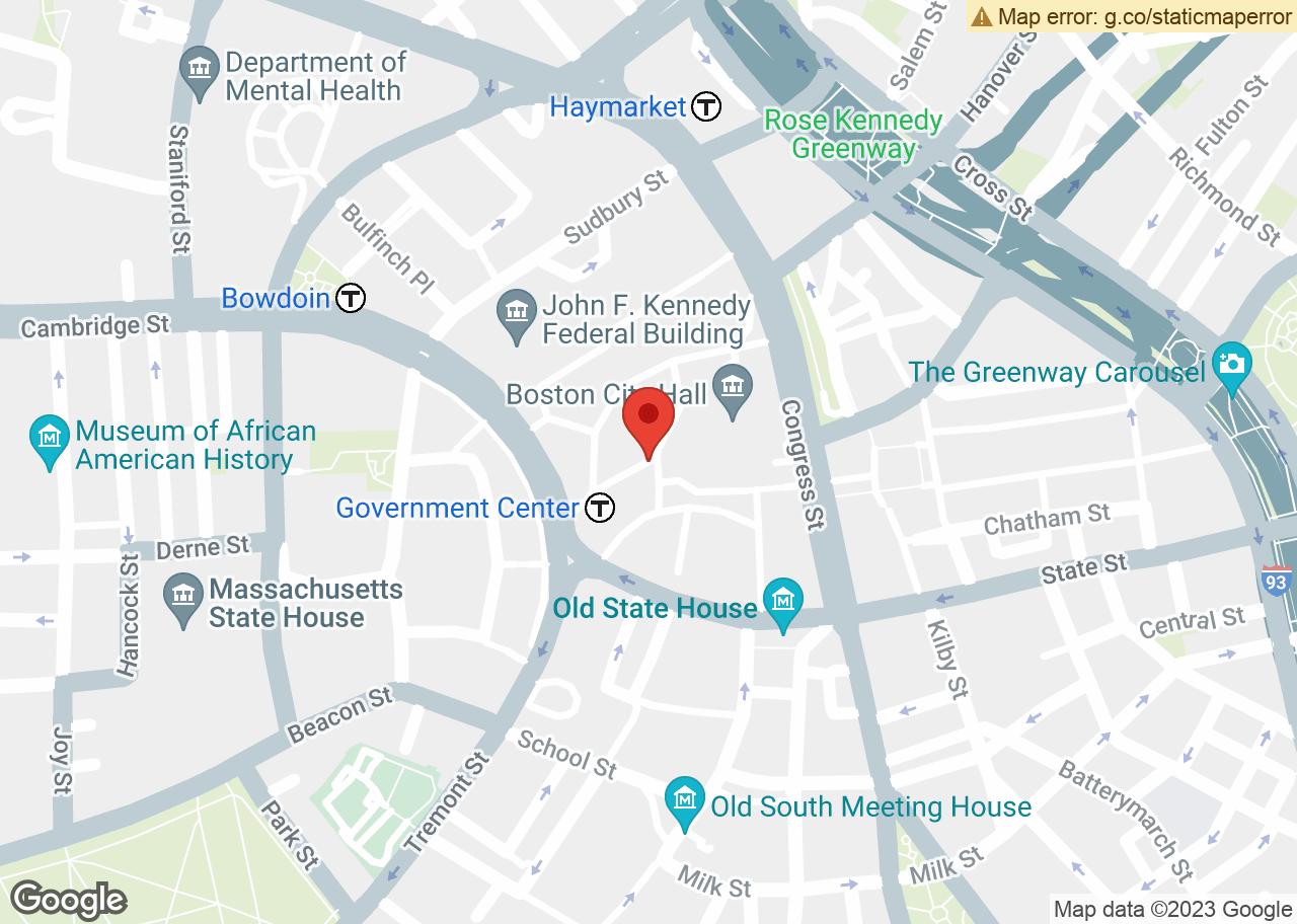 Map of , Boston, MA