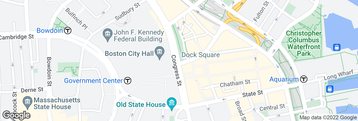 Map of Congress St @ North St and surrounding area
