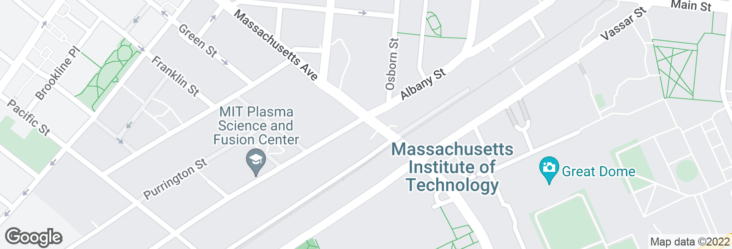 Map of Massachusetts Ave @ Albany St and surrounding area