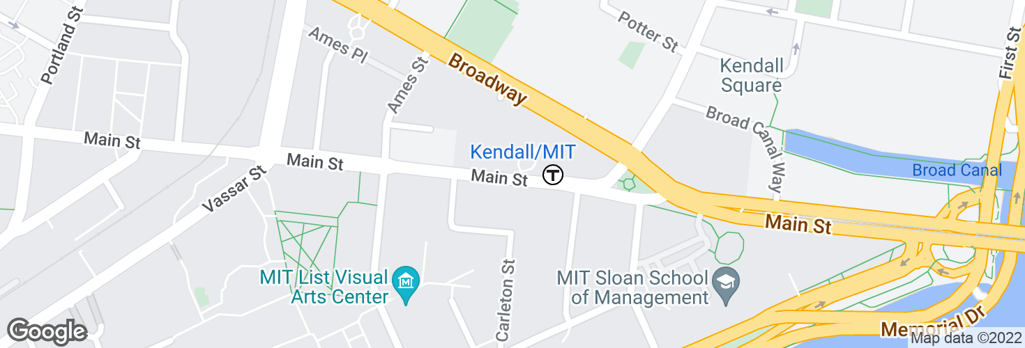 Map of Kendall/MIT and surrounding area