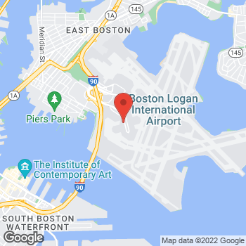 Map of Santander Bank ATM at 200 Terminal B, Boston, MA 02128