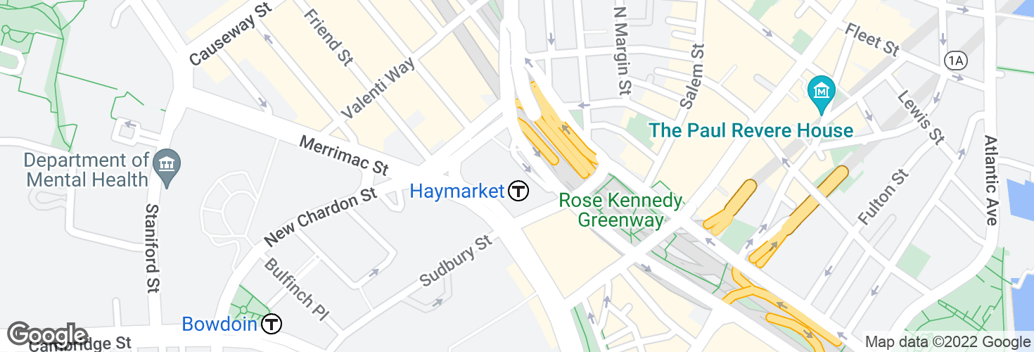 Map of Haymarket and surrounding area