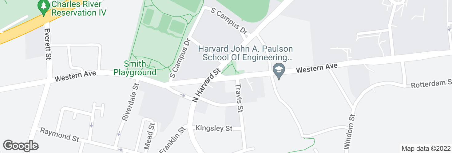 Map of Western Ave @ N Harvard St and surrounding area