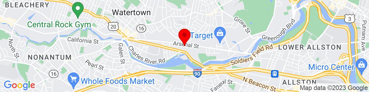 Google Map of 42.3634917, -71.1670094