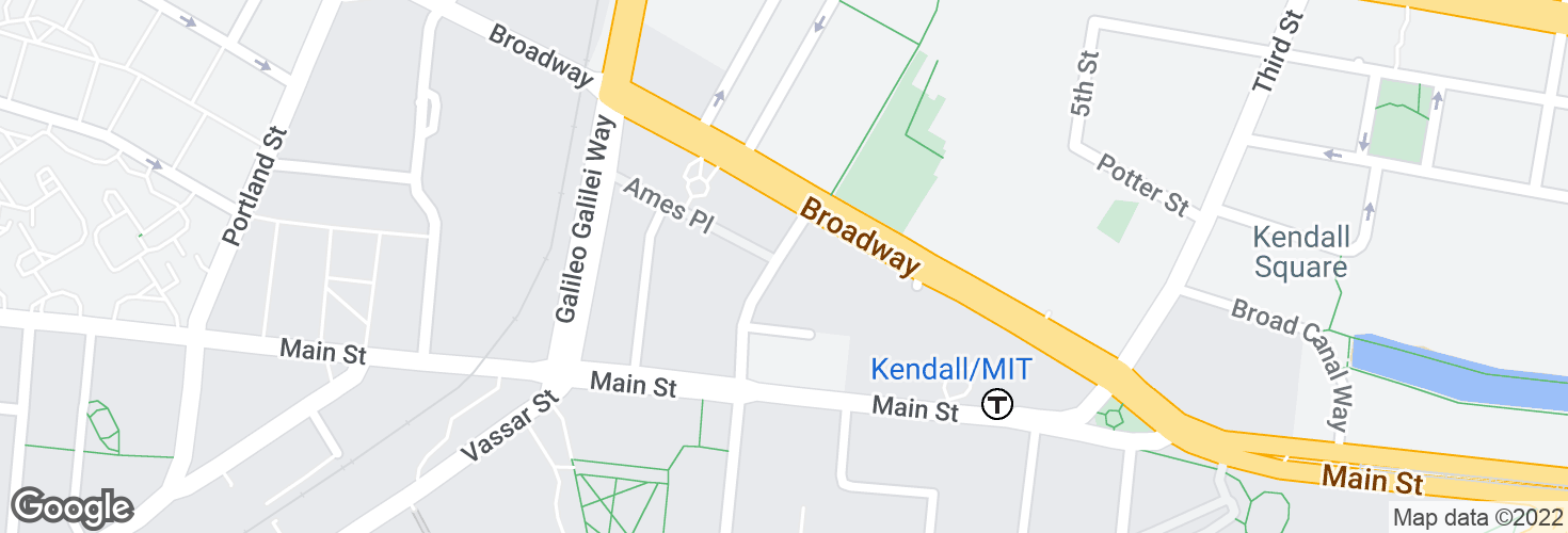 Map of Ames St @ Broadway and surrounding area