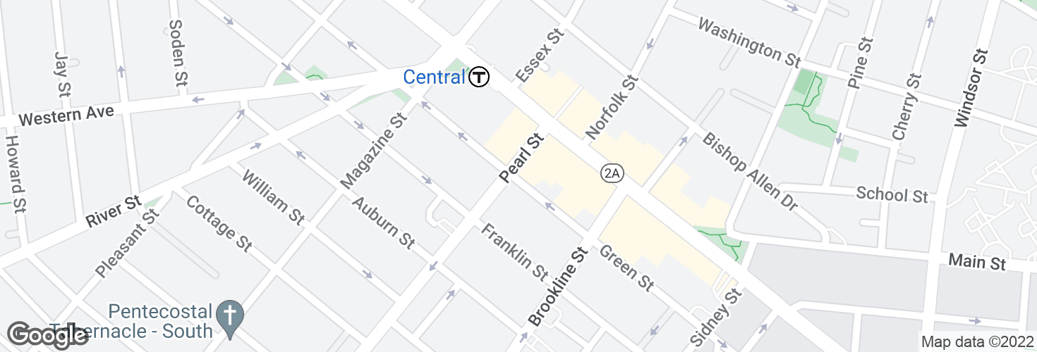 Map of Green St @ Pearl St and surrounding area