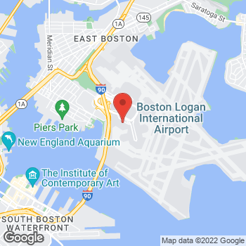 Map of Santander Bank ATM at 100 Terminal A, Boston, MA 02128