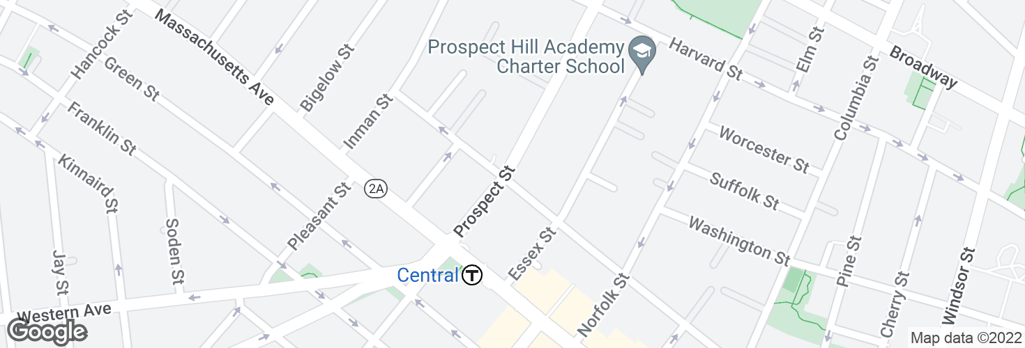Map of Prospect St @ Bishop Allen Dr and surrounding area