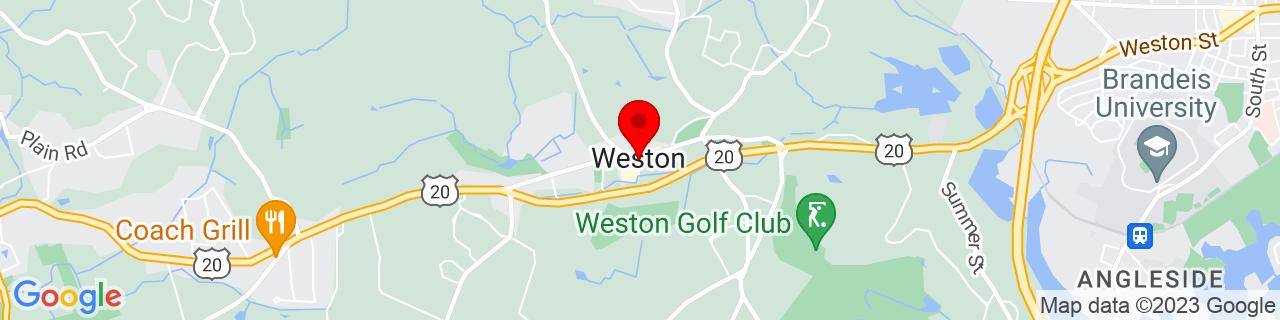 Google Map of 42.36666666666667, -71.30305555555556