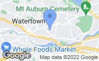Map of Watertown, MA
