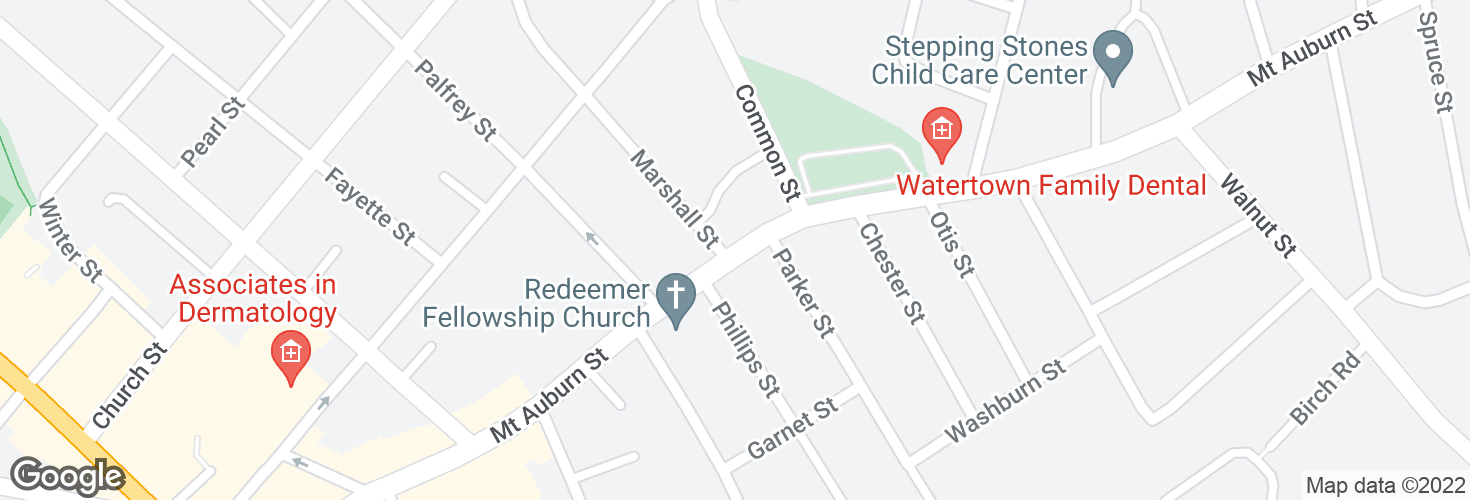 Map of Mt Auburn St @ Marshall St and surrounding area