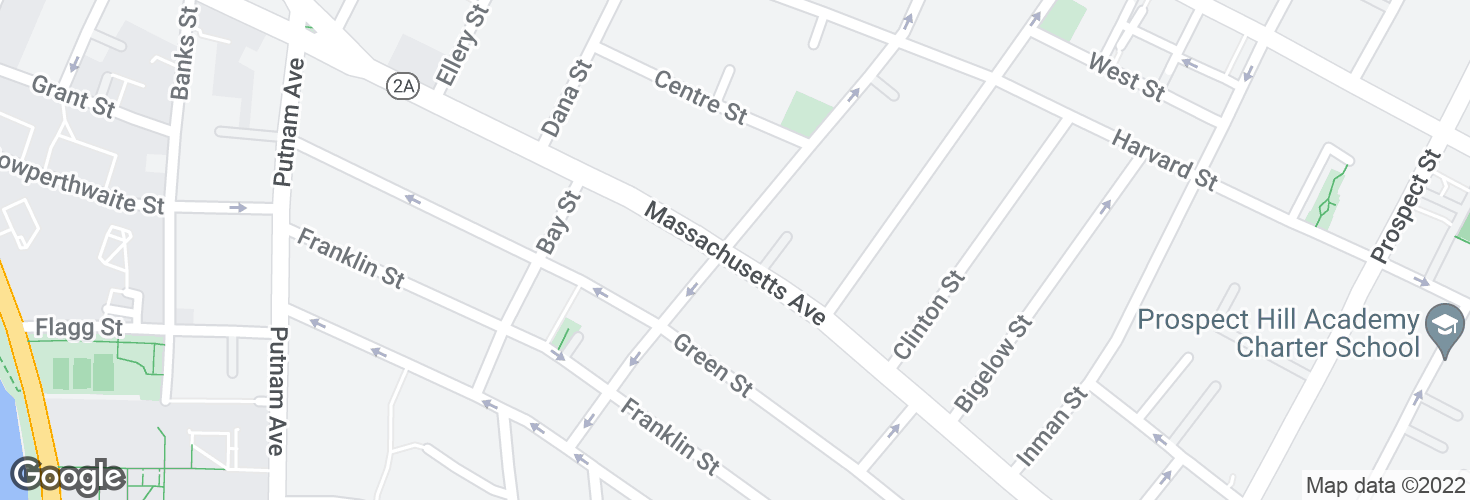 Map of Massachusetts Ave @ Hancock St and surrounding area