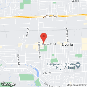 Map of Fifth Third Mortgage - Elizabeth Lundy at 33246 Plymouth Road, Livonia, MI 48150