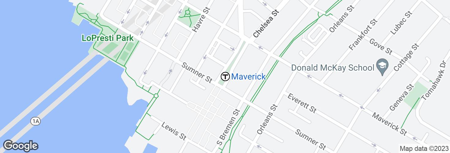 Map of Maverick and surrounding area