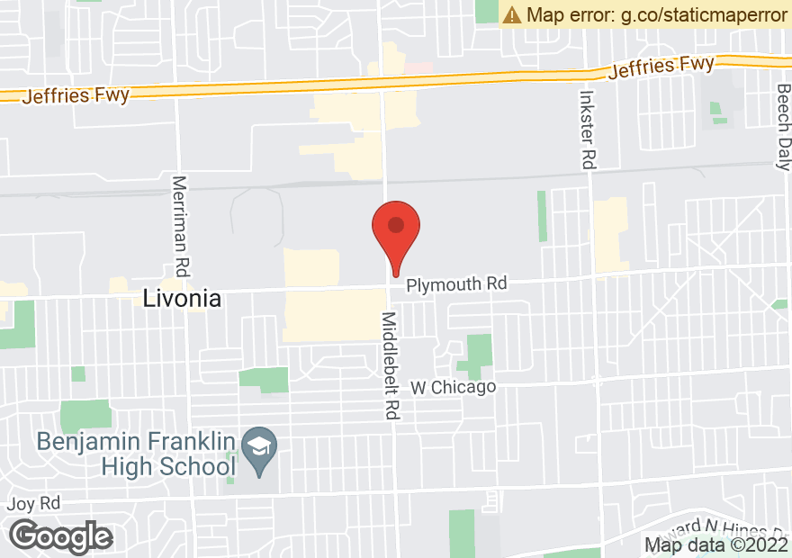 Google Map of 29370 PLYMOUTH RD