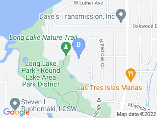Map of Snaggle Foot Dog Walks and Pet Care Dog Boarding options in Round Lake Beach | Boarding