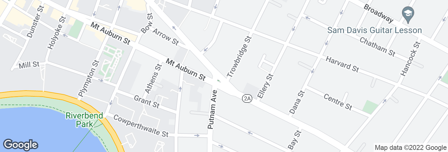 Map of Massachusetts Ave @ Trowbridge St and surrounding area