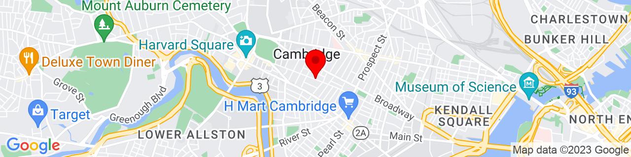 Google Map of 42.3704291, -71.10816539999999