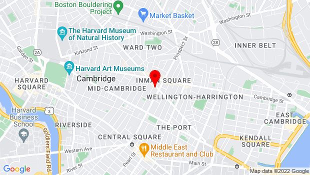 Google Map of 186 1/2 Hampshire St, Cambridge, MA 02139