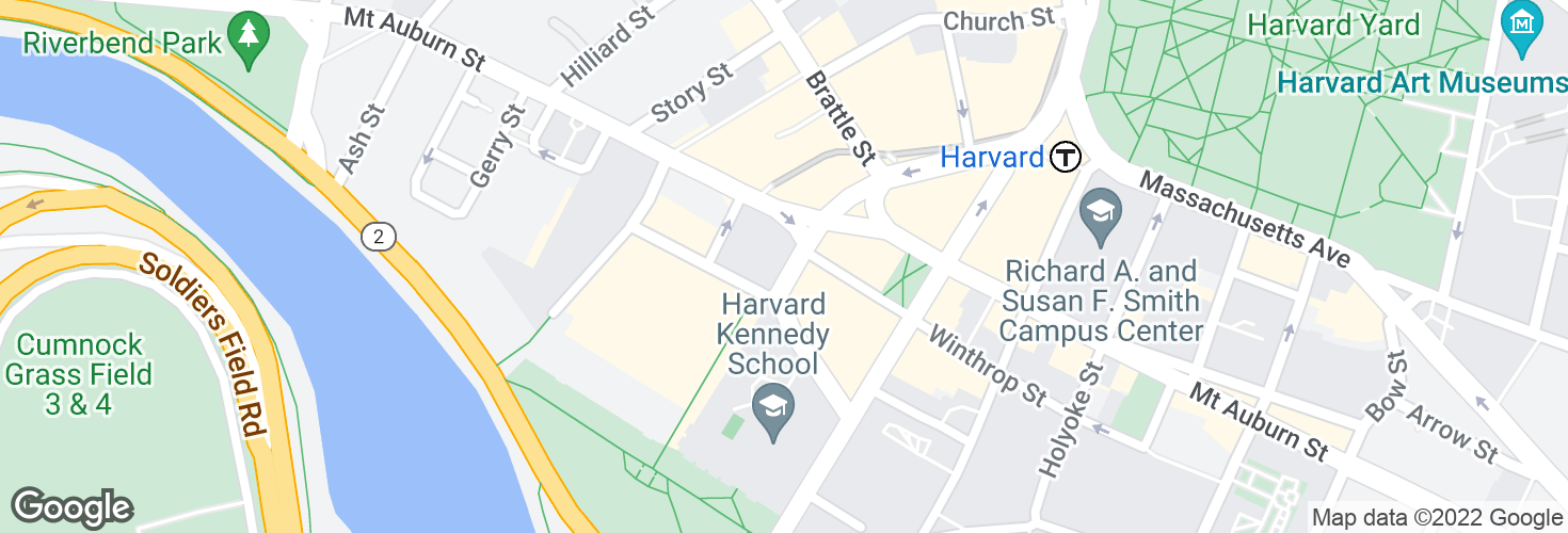 Map of Eliot St @ Bennett St and surrounding area