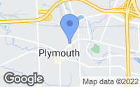 Map of Plymouth, MI