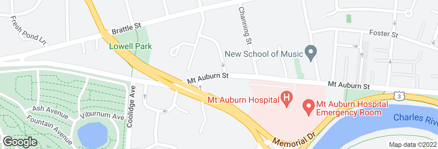 Map of Mt Auburn St @ Traill St and surrounding area