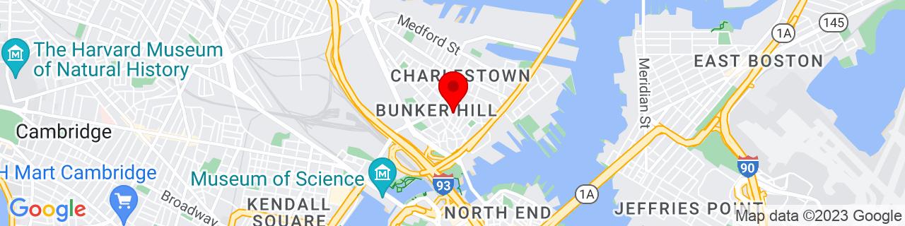 Google Map of 42.3752372, -71.0624052