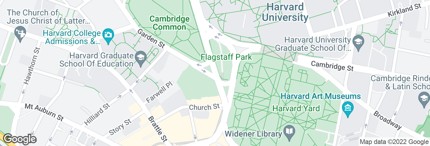 Map of Harvard Sq @ Garden St - Dawes Island and surrounding area