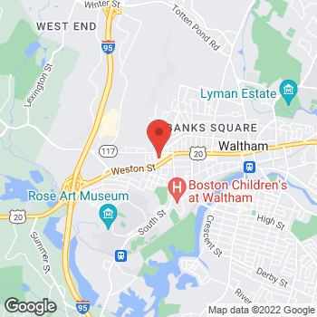 Map of Panera Bread at 1030 Main Street, Waltham, MA 02451