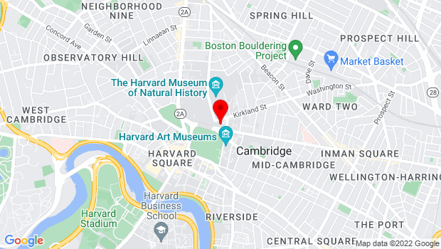 Google Map of 45 Quincy Street, Cambridge, MA 02138