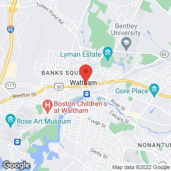 Map of Waltham Medical Group at 6 Lexington St., Waltham, MA 02452