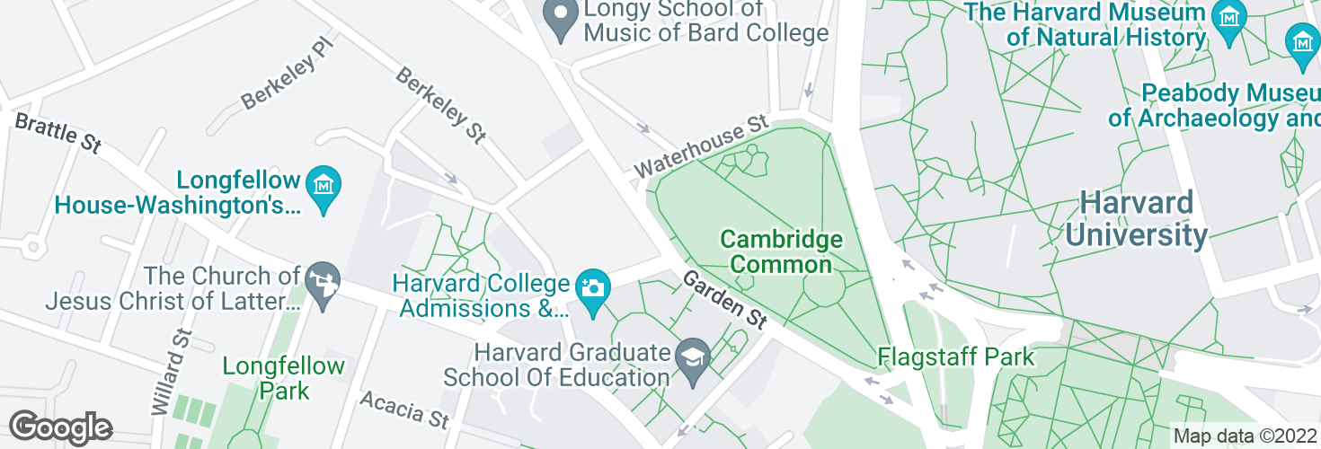 Map of Garden St opp Mason St and surrounding area