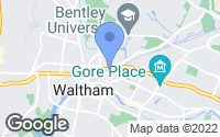 Map of Waltham, MA