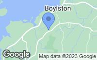 Map of Boylston, MA