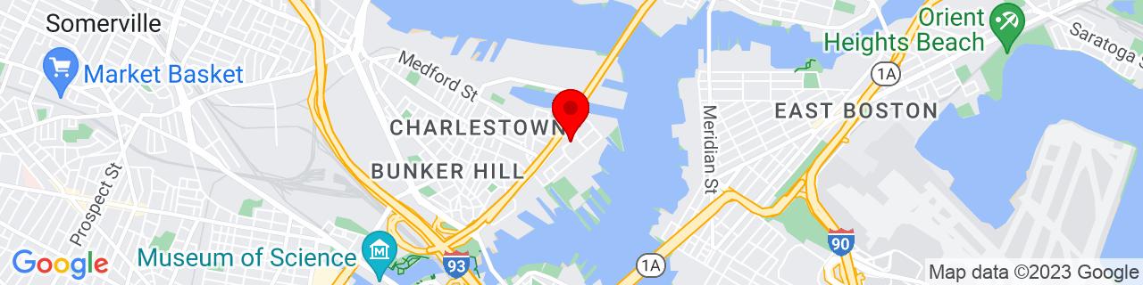 Google Map of 42.3775932, -71.0526126