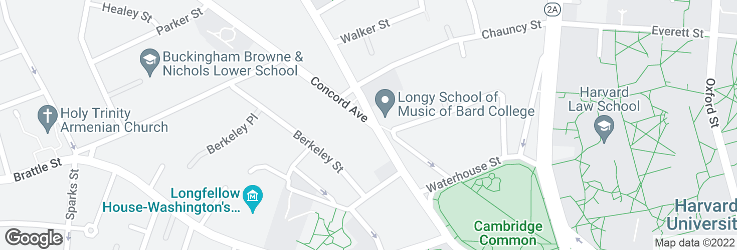 Map of Concord Ave @ Garden St and surrounding area