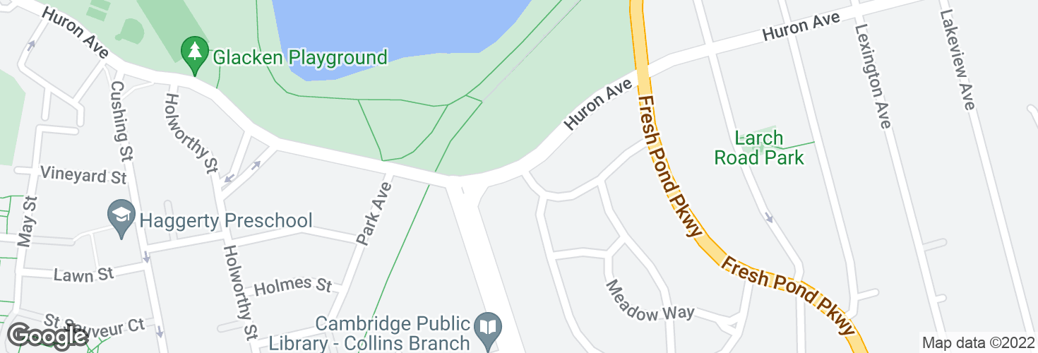 Map of Huron Ave @ Larchwood Dr and surrounding area