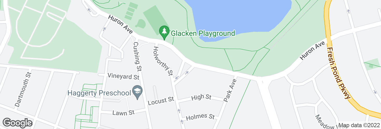 Map of Huron Ave @ Fountain Terrace and surrounding area