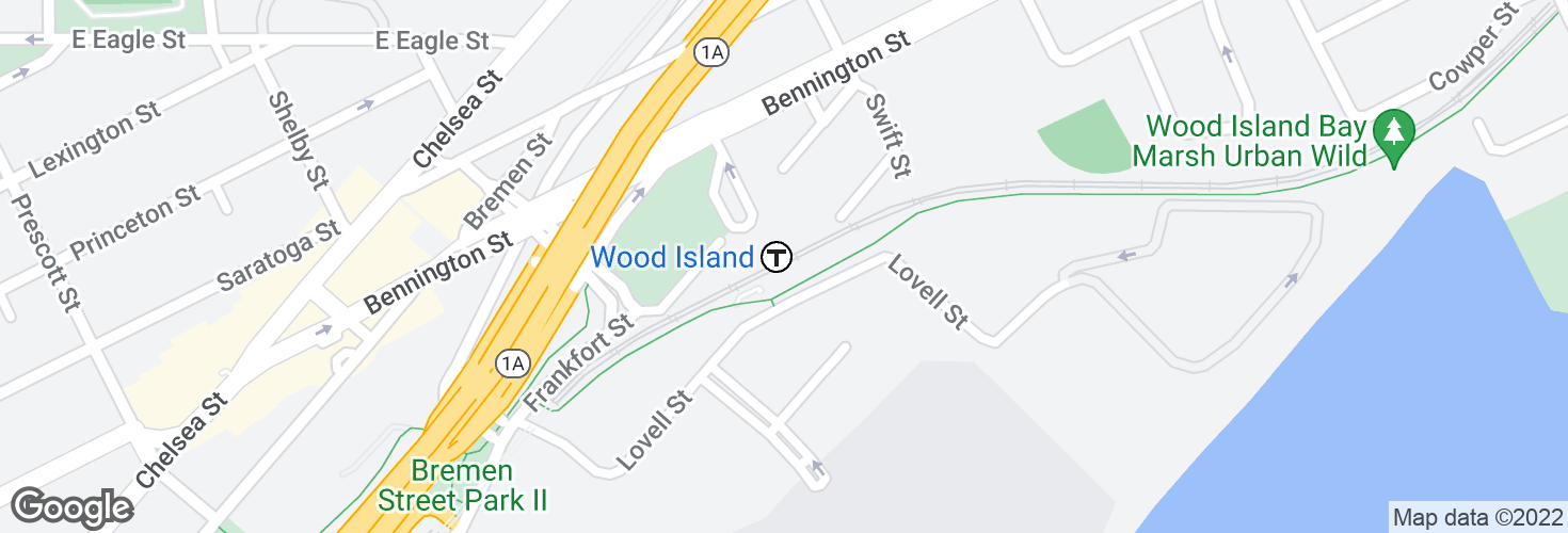 Map of Wood Island and surrounding area